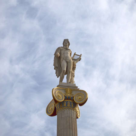 Apollo statue, god of music and poetry photo