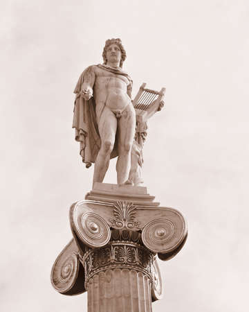 Apollo statue, the god of music and poetry photo
