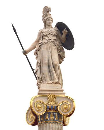 diosa griega: Athena estatua, diosa de la sabiduría y filosofía
