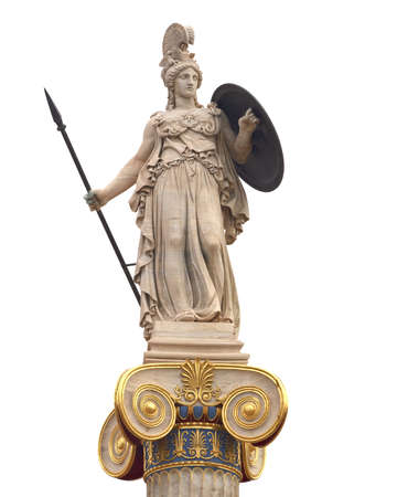 Athena statue, goddess of philosophy and wisdom photo