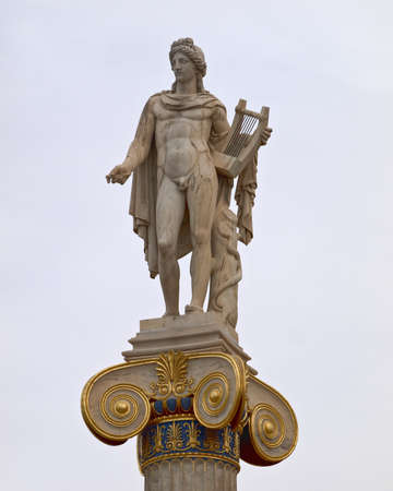 national poet: Apollo statue, the god of music and poetry Stock Photo