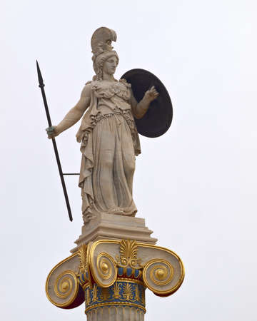 athena: Athena statue, goddess of philosophy and wisdom Stock Photo