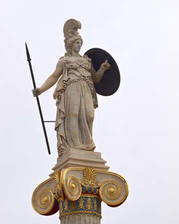 Athena statue, goddess of philosophy and wisdom Stock Photo