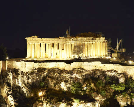 Acropolis night view, Athens Greece Stock Photo - 17186756