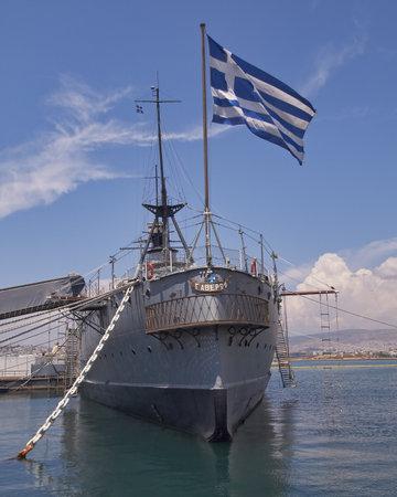 old battleship Averoff of the royal Greek navy  Stock Photo - 17465766
