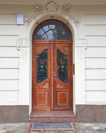 vintage wooden door, Berlin Germany photo