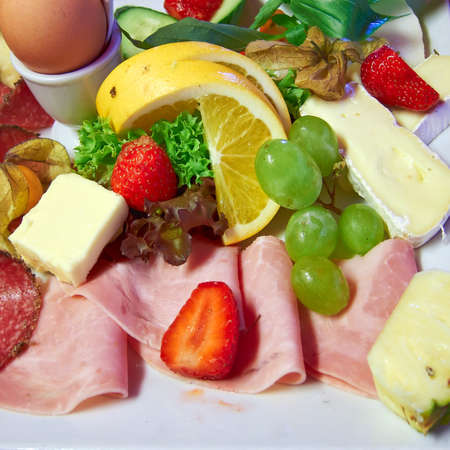 delicious fresh breakfast served photo