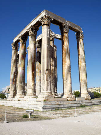 olympian: Ruins of Olympian Zeus temple,  Athens Greece