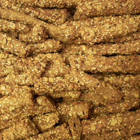 grissini: whole grain grissini closeup Stock Photo