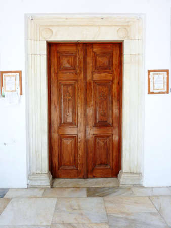 old church door, Mediterranian island photo