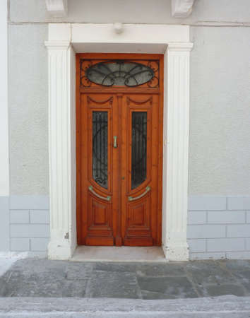 elegant mediterranean house door photo