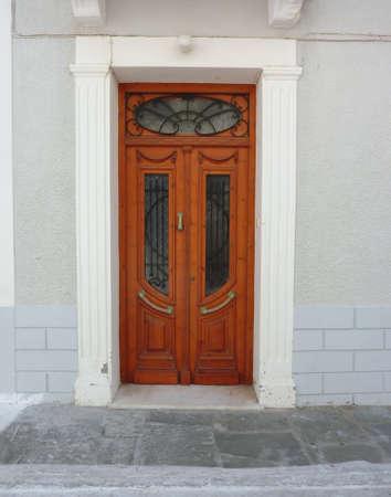 elegant mediterranean house door Stock Photo