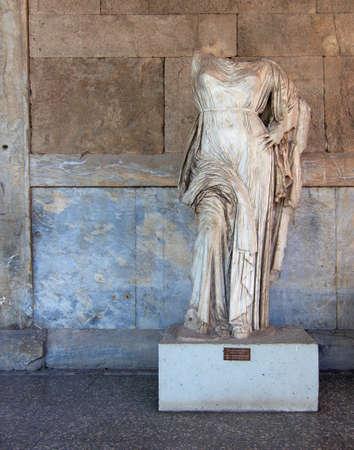 beheaded: Aphrodite statue at the Attalus stoa, Athens Greece Stock Photo
