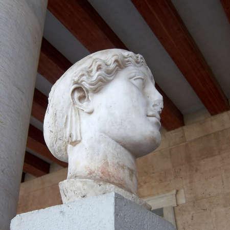 deity:  head closeup, deity of victory Stock Photo