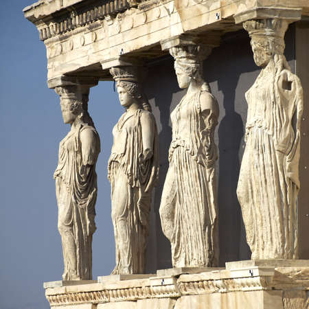 Caryatides, erechteion temple  Acropolis, Athens Greece photo