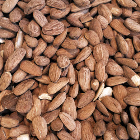 almonds closeup, tasty background photo