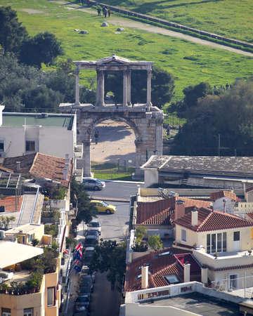 hadrian: Hadrian s gate, Athens Greece Stock Photo