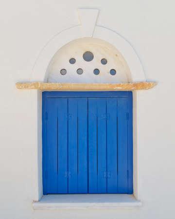 decorated blue window