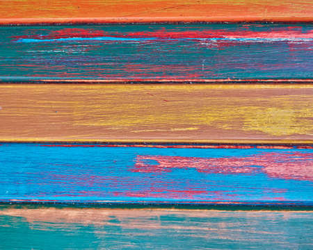colorful wood stripes photo