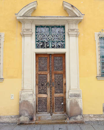 central europe: old vintage door, central Europe Stock Photo