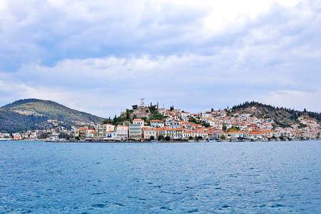 poros: view of Poros island, Greece