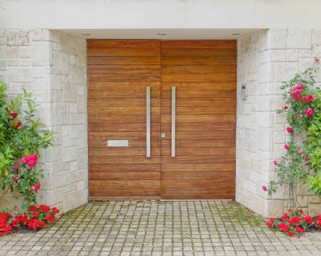 Contemporary elegant house entrance photo