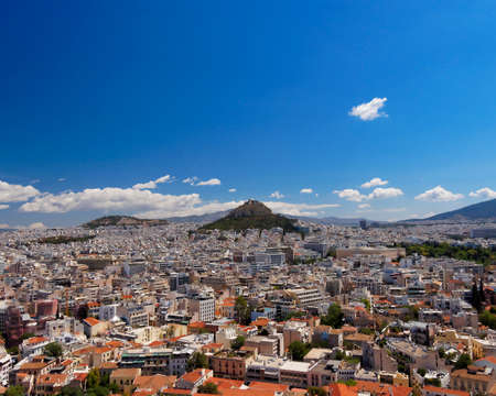 Athens cityscape, north view from Acropolis photo