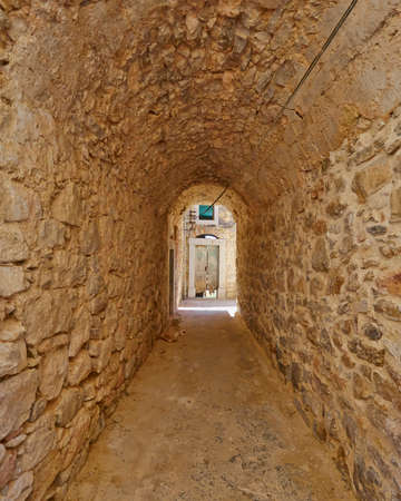 passageways: picturesque alley, Chios island, Greece Editorial