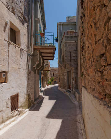 passageways: picturesque alley in a mediterranean island