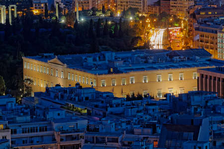 aerial view of the greek parliamen, Athens Greece photo