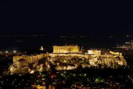Parthenon, Acropolis and Athens cityscape, Greece photo