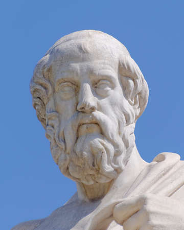 プラトン哲学者像、アテネ ギリシャ