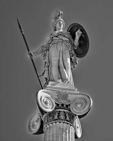 Athena the ancient Greek goddess of wisdom and science Stock Photo - 25063819