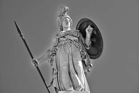 Athena the ancient Greek goddess of wisdom and science photo