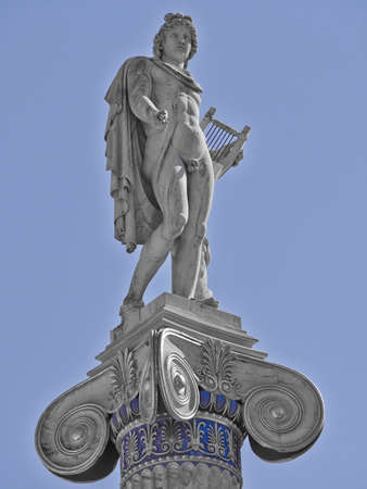greek god: Apollo the ancient Greek god of music and poetry Stock Photo
