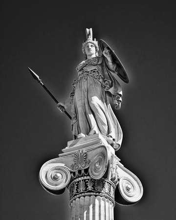知恵と科学の古代ギリシャの女神アテナ 写真素材