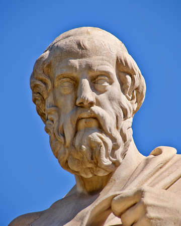 Plato the philosopher statue, Athens Greece photo