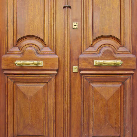 natural walnut wood door closeup photo