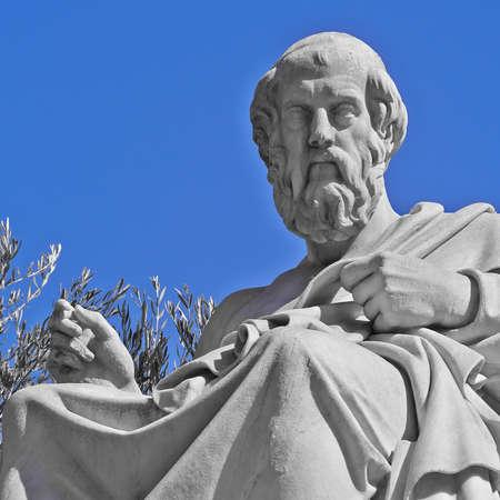 plato: Plato the philosopher statue, Athens Greece