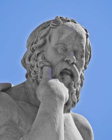 古代ギリシャの哲学者ソクラテス 写真素材