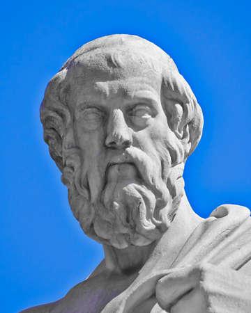 Plato the philosopher, Athens Greece photo