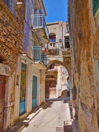絵のような路地、キオス島、ギリシャ