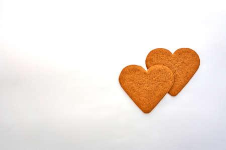 homemade heart shaped cookies  photo