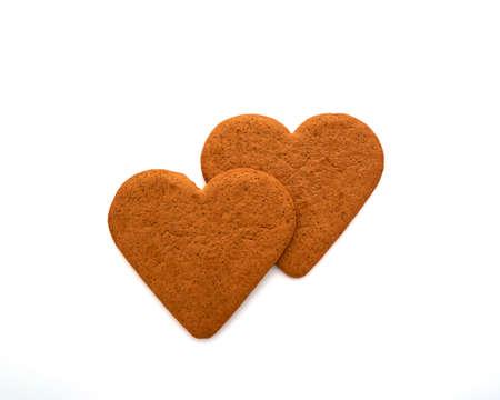 sweethearts: couple of homemade sweethearts on white Stock Photo