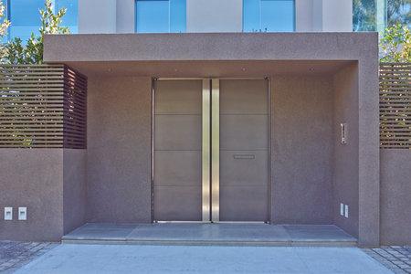 contemporary house entrance, Athens, Greece