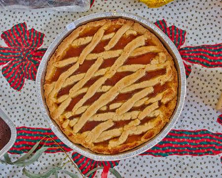 pasta frolla, italian gourmet marmelade pie  photo
