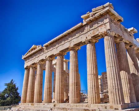 doric: Parthenon ancient doric order temple, Athens Greece