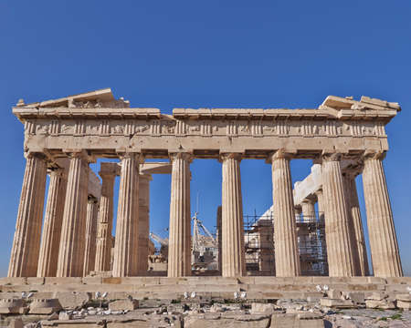 Parthenon ancient temple, acropolis of Athens, Greece