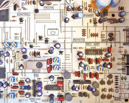 電子回路、こんにちは忠実カセット レコーダー 写真素材