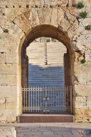 bleachers: bleachers of Herodeion theater through the main entrance